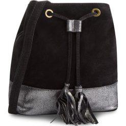 Torebka CREOLE - K10481 Czarny. Czarne torebki worki Creole, ze skóry. Za 119,00 zł.