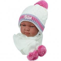 Czapka niemowlęca z szalikiem CZ+S 002F. Szare czapeczki niemowlęce Proman. Za 38,76 zł.