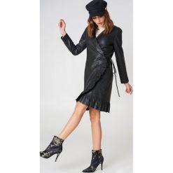 Sukienki hiszpanki: Just Female Skórzana sukienka Zeus – Black