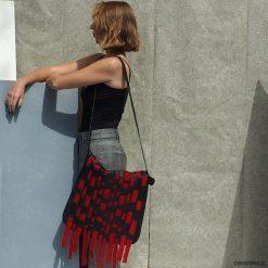 Torba skórzana z wymienną klapą. BOHO RED. Czerwone torebki klasyczne damskie Pakamera, ze skóry. Za 1350,00 zł.