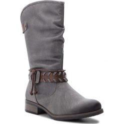 Kozaki RIEKER - 98861-42 Grau. Czarne buty zimowe damskie marki Rieker, z materiału. Za 279,00 zł.