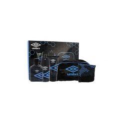 Kosmetyczki męskie: UMBRO Ice zestaw Edt 75 ml + Żel pod prysznic 150 ml + Deodorant 150 ml + Gąbka do twarzy + Kosmetyczka dla mężczyzn