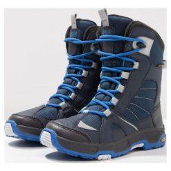 Jack Wolfskin SNOW RIDE TEXAPORE Śniegowce vibrant blue. Niebieskie buty zimowe damskie marki Jack Wolfskin, z materiału. Za 369,00 zł.