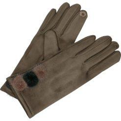 Rękawiczki - 164-ST519 FAN. Brązowe rękawiczki męskie Unisono, z bawełny. Za 34,00 zł.