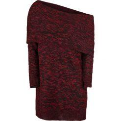 Swetry klasyczne damskie: Black Premium by EMP Nightfall Sweter damski burgund/czarny