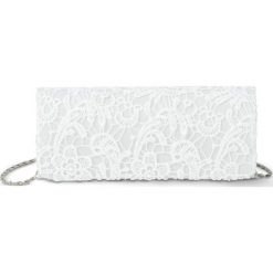 Kopertówki damskie: Kopertówka koronkowa bonprix kremowo-biały
