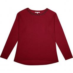Sweter kaszmirowy w kolorze bordowym. Czerwone swetry klasyczne damskie marki Ateliers de la Maille, z kaszmiru, z okrągłym kołnierzem. W wyprzedaży za 500,95 zł.