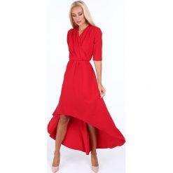Sukienka z zakładanym dekoltem czerwona 1841. Czerwone sukienki Fasardi, l. Za 119,00 zł.