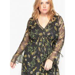 Długie sukienki: Długa sukienka, wzorek w kwiaty