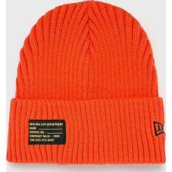 New Era - Czapka. Czerwone czapki zimowe męskie New Era, z dzianiny. Za 119,90 zł.