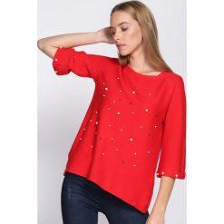 Czerwony Sweter Animal Print. Czerwone swetry klasyczne damskie marki Born2be, m, z okrągłym kołnierzem. Za 64,99 zł.