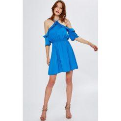 Noisy May - Sukienka Heidi. Białe sukienki mini marki bonprix, na ślub cywilny, z wełny, eleganckie, moda ciążowa. Za 169,90 zł.
