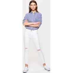 Spodnie damskie: Spodnie skinny – Biały