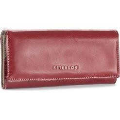 Duży Portfel Damski PETERSON - 463/A-14-03-01 Czerwony. Czerwone portfele damskie Peterson, ze skóry. W wyprzedaży za 139,00 zł.