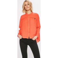Answear - Koszula. Pomarańczowe koszule damskie marki ANSWEAR, l, z bawełny, casualowe, z długim rękawem. W wyprzedaży za 69,90 zł.