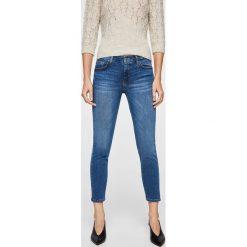 Mango - Jeansy Skinnycr. Niebieskie jeansy damskie marki Mango. W wyprzedaży za 119,90 zł.