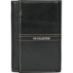 VIP COLLECTION - Portfel skórzany. Czarne portfele damskie VIP COLLECTION, z materiału. W wyprzedaży za 139,90 zł.
