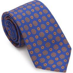 Krawat 87-7K-001-X4. Brązowe krawaty męskie Wittchen, z bawełny, eleganckie. Za 149,00 zł.