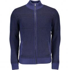 Kardigan w kolorze niebieskim. Niebieskie swetry rozpinane męskie Guess, m, ze stójką. W wyprzedaży za 329,95 zł.