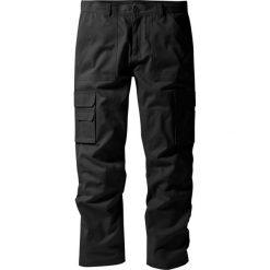 """Spodnie """"bojówki"""" z powłoką z teflonu Regular Fit Straight bonprix czarny. Czarne bojówki męskie bonprix. Za 124,99 zł."""