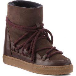 Buty INUIKII - Sneaker Classic 70203-5 D'Brown. Brązowe buty zimowe damskie Inuikii, ze skóry, na niskim obcasie. Za 1129,00 zł.
