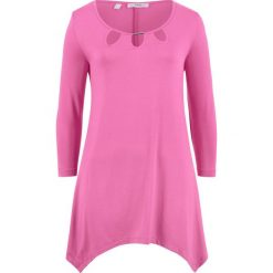 Tunika shirtowa, rękawy 3/4 bonprix lila - różowy. Czerwone tuniki damskie bonprix. Za 89,99 zł.