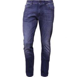 7 for all mankind RONNIE Jeansy Slim Fit dark blue. Niebieskie jeansy męskie regular 7 for all mankind, z bawełny. W wyprzedaży za 413,55 zł.