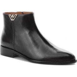 Botki EMPORIO ARMANI - X3M274 XF261 00002 Black. Szare buty zimowe damskie marki Emporio Armani, l, z nadrukiem, z bawełny, z okrągłym kołnierzem. Za 1069,00 zł.