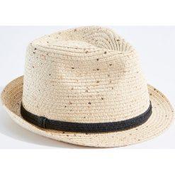 Kapelusze damskie: Lekki kapelusz z cekinami – Beżowy