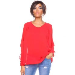 """Bluzki asymetryczne: Bluzka """"Lee"""" w kolorze czerwonym"""