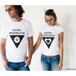 Koszulki dla par - ojciec i matka. Szare t-shirty damskie Pakamera, z napisami. Za 109,00 zł.
