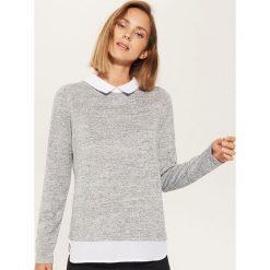 Sweter z koszulą - Szary. Szare koszule damskie marki House, l. Za 49,99 zł.