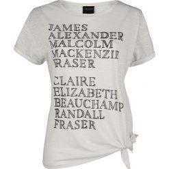 Outlander Names Koszulka damska biały (Old White). Białe bluzki asymetryczne Outlander, m, z nadrukiem, z okrągłym kołnierzem. Za 62,90 zł.