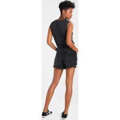 Bermudy damskie: Noisy May NMMILLE LOOSE LEOPARD  Szorty jeansowe black