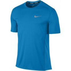 Nike Męska Koszulka Sportowa M Nk Miler Top Ss, Blue L. Niebieskie koszulki do fitnessu męskie marki Oakley, na lato, z bawełny, eleganckie. Za 129,00 zł.