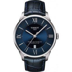 RABAT ZEGAREK TISSOT T-Classic T099.407.16.048.00. Niebieskie zegarki męskie marki TISSOT, ze stali. W wyprzedaży za 2816,00 zł.