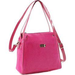 Torebki klasyczne damskie: Skórzana torebka w kolorze różowym – (S)23 x (W)25 x (G)13 cm