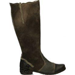 Kozaki - 570 COM D15. Brązowe buty zimowe damskie Venezia, ze skóry. Za 339,00 zł.