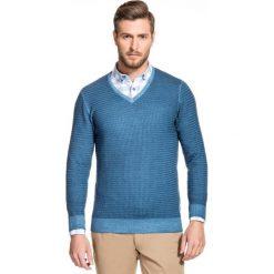 Sweter MANUELE SWNS000144. Czarne swetry klasyczne męskie marki Polo Club C.H..A, m, dekolt w kształcie v. Za 399,00 zł.