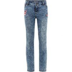 """Dżinsy SKINNY z nadrukiem bonprix niebieski """"stone moonwashed"""". Niebieskie jeansy damskie marki House, z jeansu. Za 54,99 zł."""