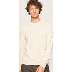Gładka bluza Basic - Beżowy. Brązowe bluzy męskie marki LIGNE VERNEY CARRON, m, z bawełny. Za 59,99 zł.