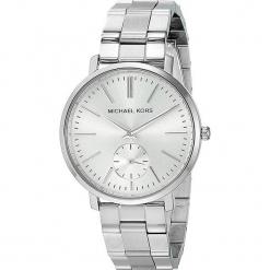 """Zegarek kwarcowy """"Jaryn"""" w kolorze srebrnym. Szare, analogowe zegarki damskie marki Michael Kors, srebrne. W wyprzedaży za 560,95 zł."""