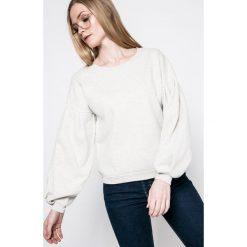 Only - Bluza. Szare bluzy damskie marki ONLY, s, z bawełny, casualowe, z okrągłym kołnierzem. W wyprzedaży za 49,90 zł.