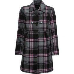 Płaszcz budrysówka bonprix różowobrązowo-szary w kratę. Czerwone płaszcze damskie bonprix. Za 189,99 zł.