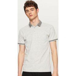 Koszulki polo: Melanżowa koszulka polo – Jasny szar