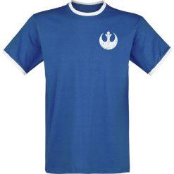 T-shirty męskie z nadrukiem: Star Wars Rebel – 77 T-Shirt niebieski/biały