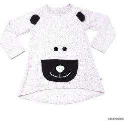 Tunika dla dziewczynki Happy Bear. Szare sukienki dziewczęce z falbanami Pakamera. Za 100,00 zł.
