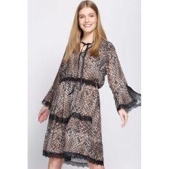 Sukienki: Ciemnobeżowa Sukienka Animal Rights