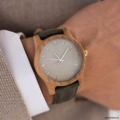 Drewniany zegarek męski classic 43 mm n021. Brązowe zegarki męskie Pakamera. Za 339,00 zł.