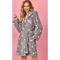 Damski szlafrok Smile. Szare szlafroki damskie marki Astratex, w koronkowe wzory, z bawełny. Za 150,99 zł.